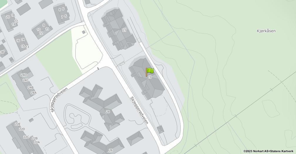 Kart sentrert på geolokasjonen 59.3106908611848 breddegrad, 10.1718020960051 lengdegrad