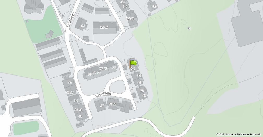 Kart sentrert på geolokasjonen 59.2372052006914 breddegrad, 10.3974487901672 lengdegrad