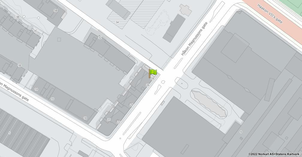 Kart sentrert på geolokasjonen 63.4441427037682 breddegrad, 10.4448253907854 lengdegrad