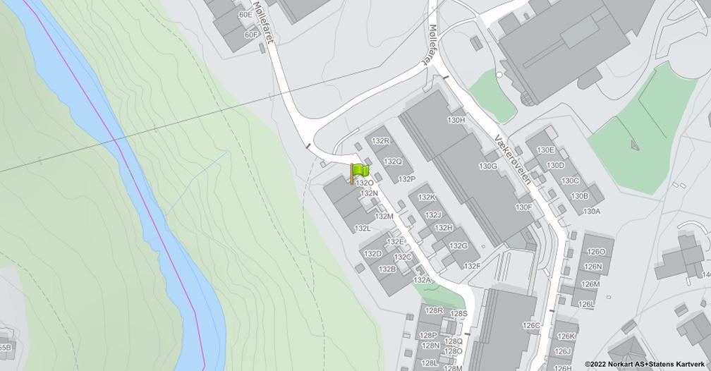 Kart sentrert på geolokasjonen 59.9364313737613 breddegrad, 10.6363917999432 lengdegrad