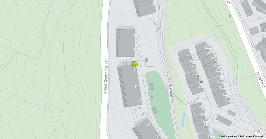 Kart sentrert på geolokasjonen 59.9721795794775 breddegrad, 10.6448025844106 lengdegrad