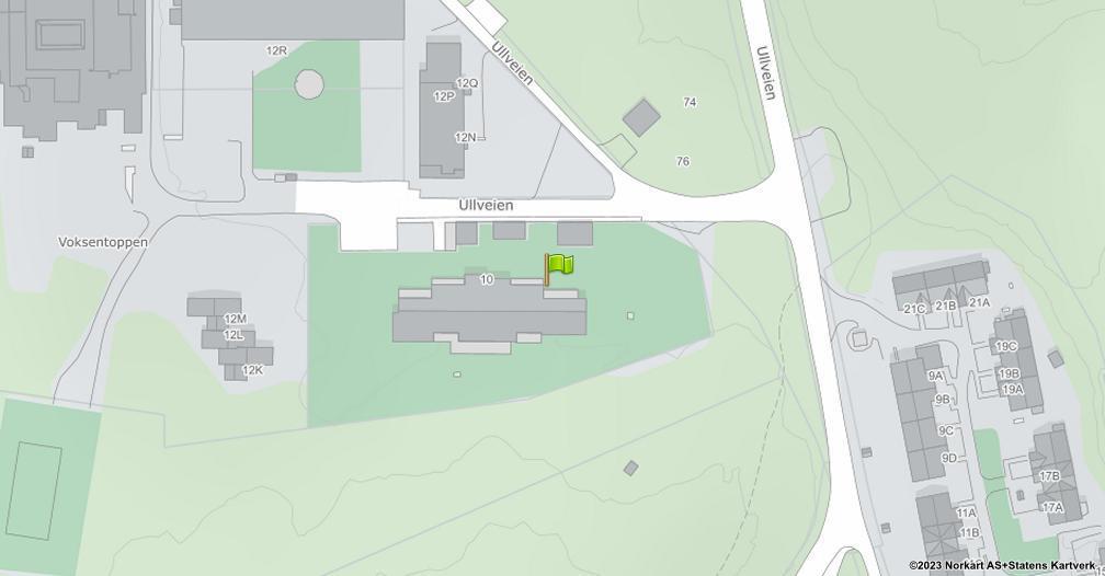 Kart sentrert på geolokasjonen 59.9772994932387 breddegrad, 10.6655209465603 lengdegrad