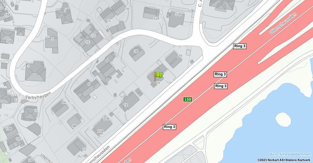 Kart sentrert på geolokasjonen 59.9357427610758 breddegrad, 10.6769132751475 lengdegrad