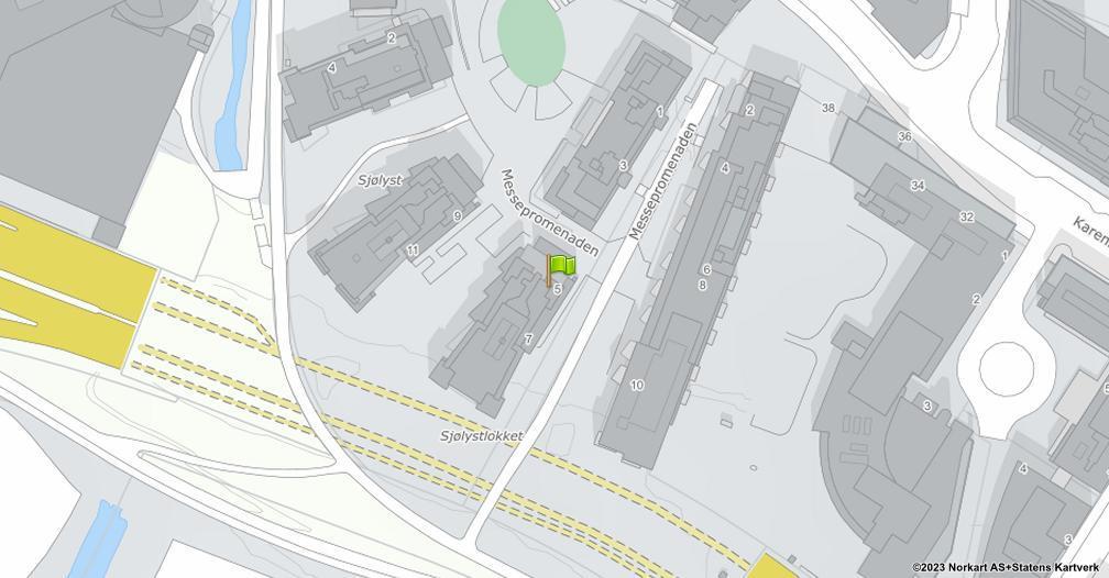Kart sentrert på geolokasjonen 59.9204766967866 breddegrad, 10.6802753010397 lengdegrad