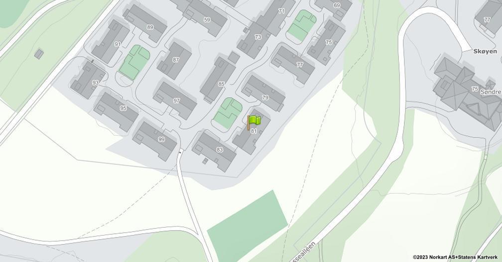 Kart sentrert på geolokasjonen 59.927470851786 breddegrad, 10.6867842198555 lengdegrad