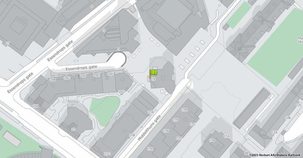 Kart sentrert på geolokasjonen 59.9284989962046 breddegrad, 10.7107834840199 lengdegrad