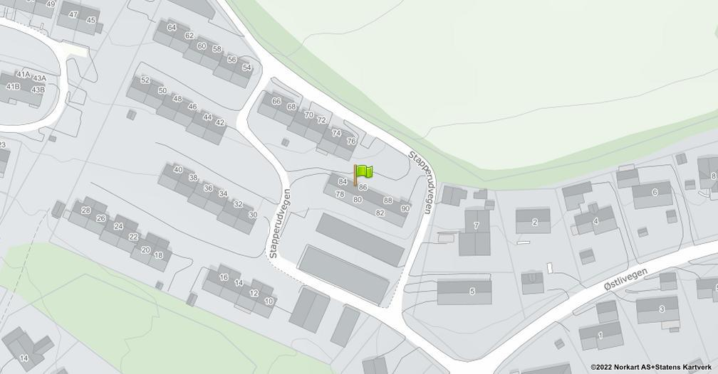 Kart sentrert på geolokasjonen 60.9411438091428 breddegrad, 10.721710793691 lengdegrad