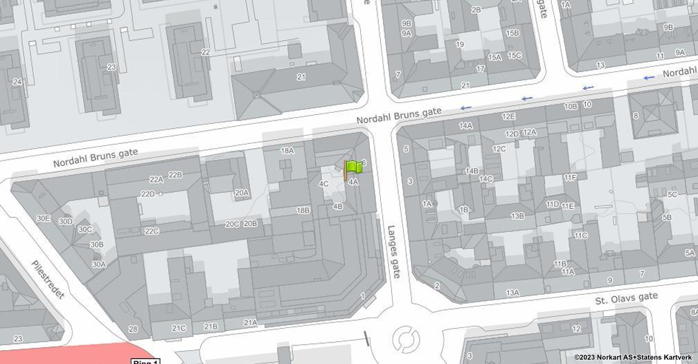 Kart sentrert på geolokasjonen 59.9185736881544 breddegrad, 10.7397472931016 lengdegrad