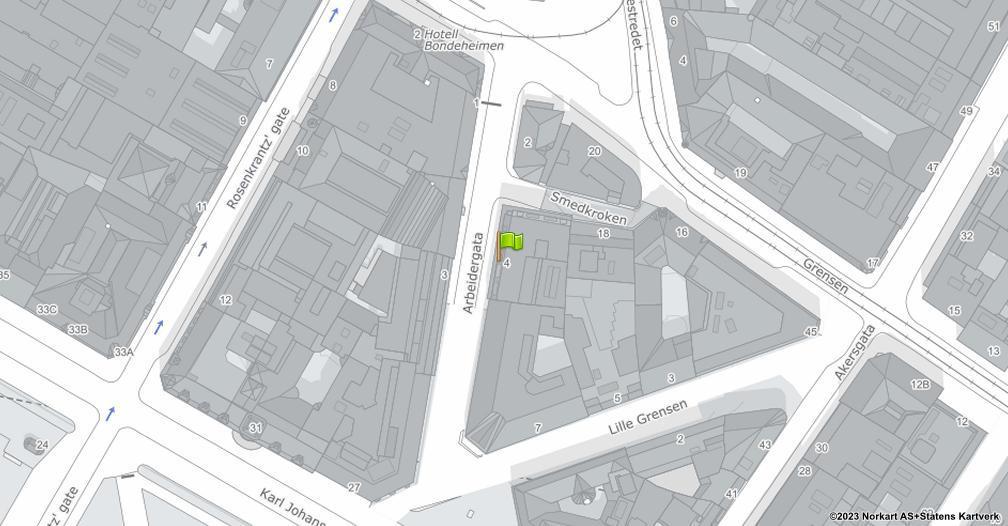 Kart sentrert på geolokasjonen 59.9141595426149 breddegrad, 10.7407503998482 lengdegrad