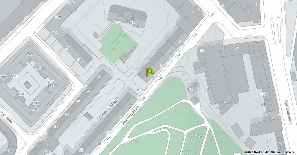 Kart sentrert på geolokasjonen 59.9250111519825 breddegrad, 10.7480641779354 lengdegrad