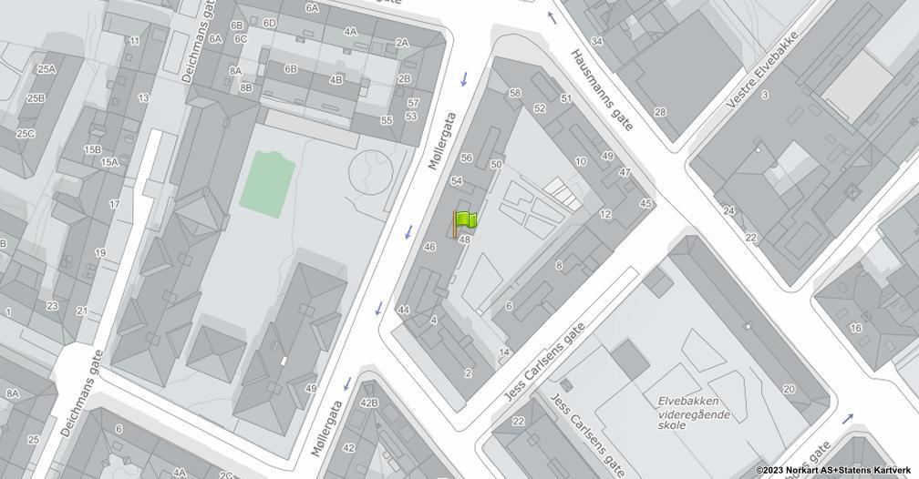 Kart sentrert på geolokasjonen 59.9186010111675 breddegrad, 10.7512510484319 lengdegrad