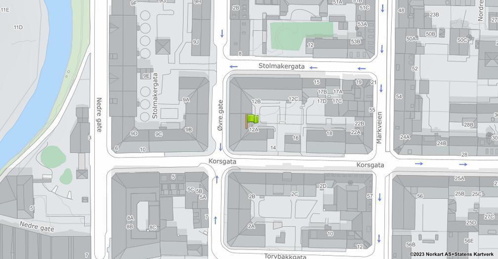Kart sentrert på geolokasjonen 59.9202978455139 breddegrad, 10.756027511701 lengdegrad