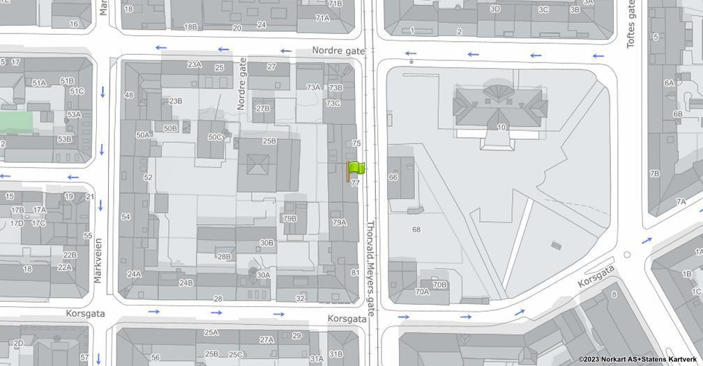 Kart sentrert på geolokasjonen 59.9205882201834 breddegrad, 10.7591735458551 lengdegrad