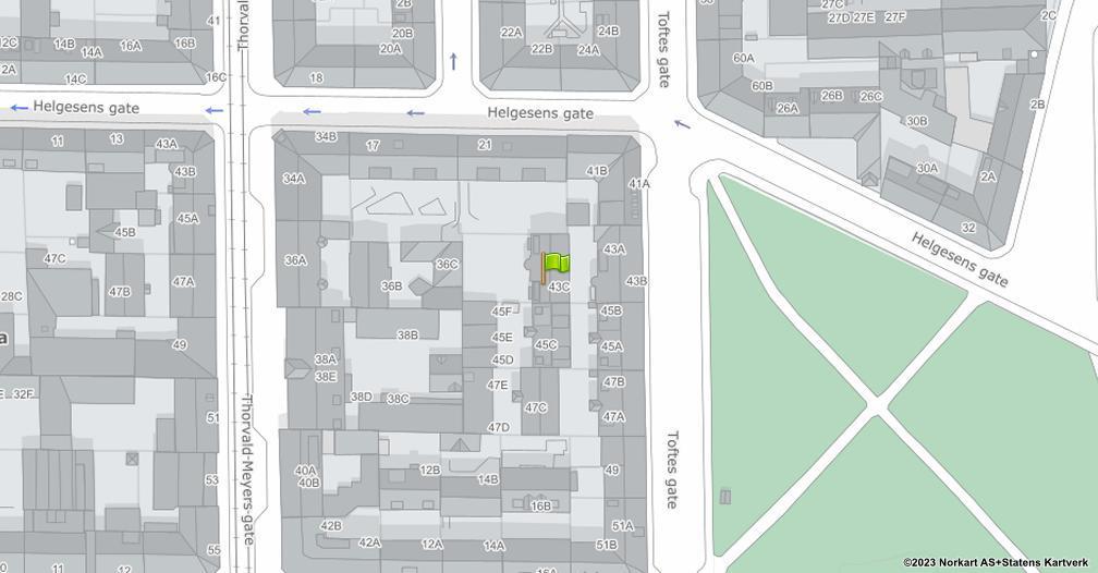Kart sentrert på geolokasjonen 59.9241436181379 breddegrad, 10.7606141925662 lengdegrad