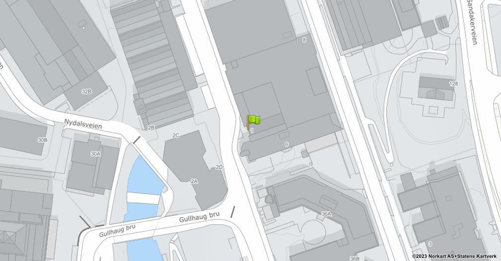Kart sentrert på geolokasjonen 59.9503446315001 breddegrad, 10.7661686874351 lengdegrad