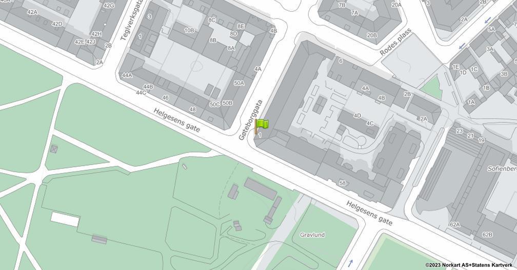 Kart sentrert på geolokasjonen 59.9234135929711 breddegrad, 10.7661754586582 lengdegrad