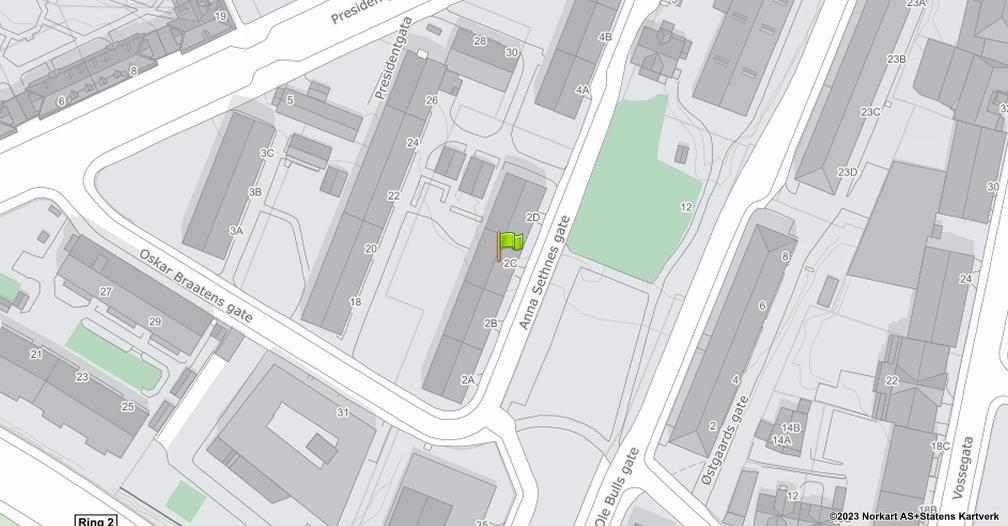 Kart sentrert på geolokasjonen 59.9319569229733 breddegrad, 10.766701290361 lengdegrad