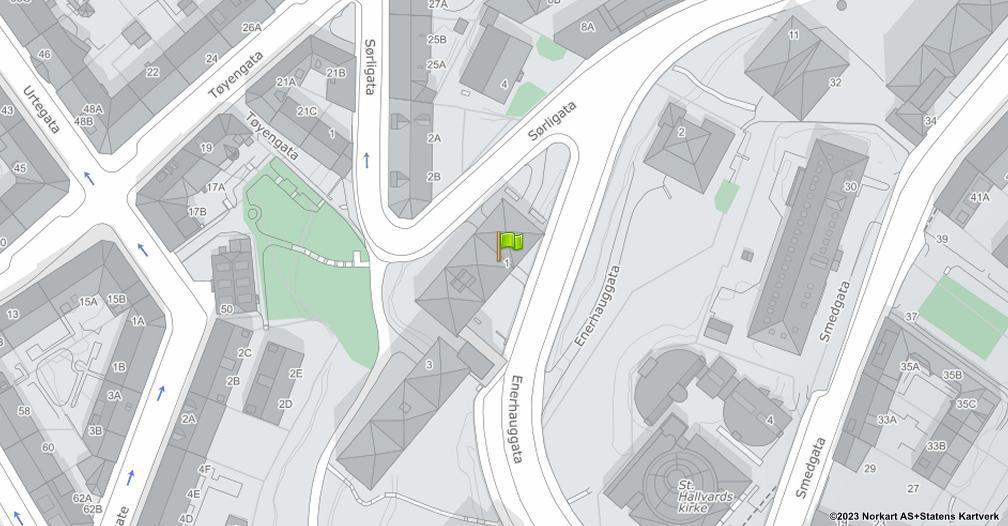 Kart sentrert på geolokasjonen 59.9133354702914 breddegrad, 10.7682512833811 lengdegrad