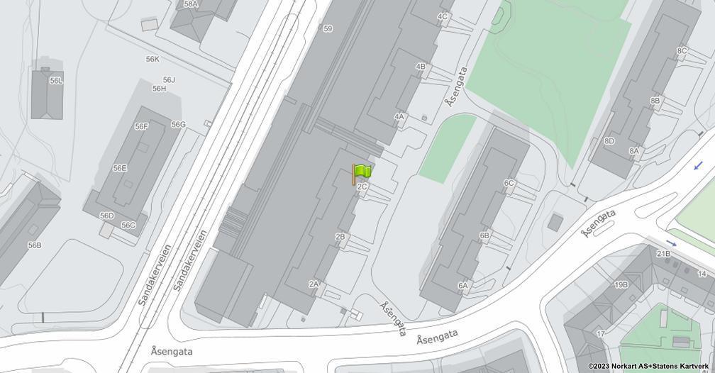 Kart sentrert på geolokasjonen 59.9378756499476 breddegrad, 10.7687165688848 lengdegrad