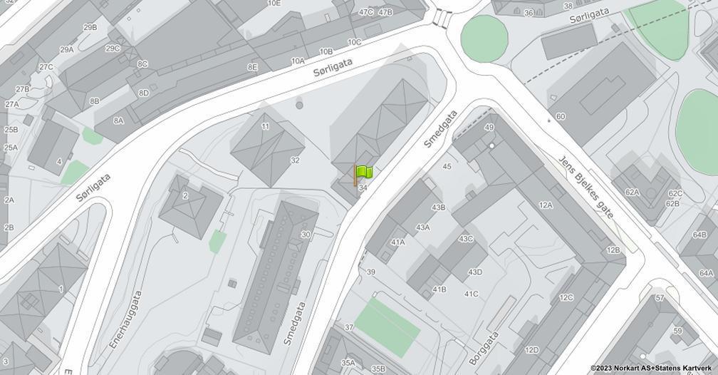 Kart sentrert på geolokasjonen 59.9136933325492 breddegrad, 10.7703629823048 lengdegrad