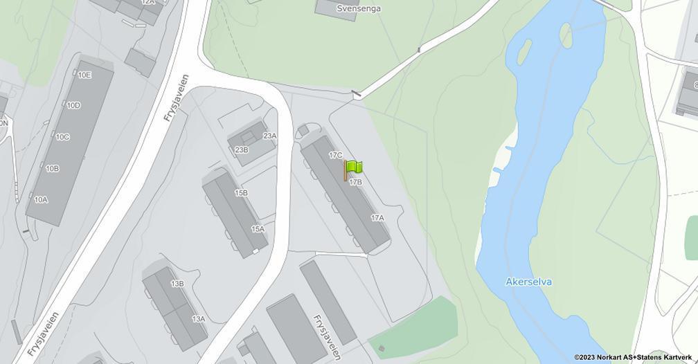 Kart sentrert på geolokasjonen 59.9619686111593 breddegrad, 10.770377040326 lengdegrad