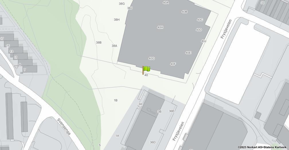 Kart sentrert på geolokasjonen 59.964993674626 breddegrad, 10.7705026580435 lengdegrad