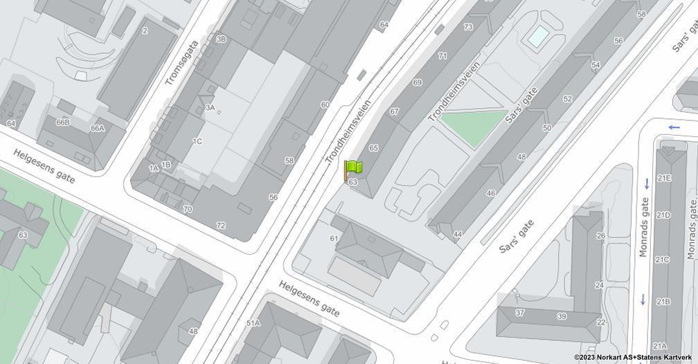 Kart sentrert på geolokasjonen 59.9225178523493 breddegrad, 10.7713519470183 lengdegrad