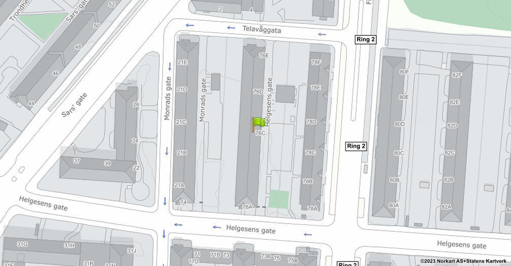 Kart sentrert på geolokasjonen 59.9221810490746 breddegrad, 10.7743575023885 lengdegrad