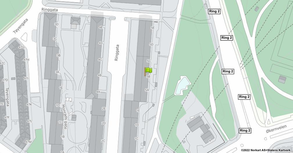 Kart sentrert på geolokasjonen 59.915984957645 breddegrad, 10.7749389679166 lengdegrad
