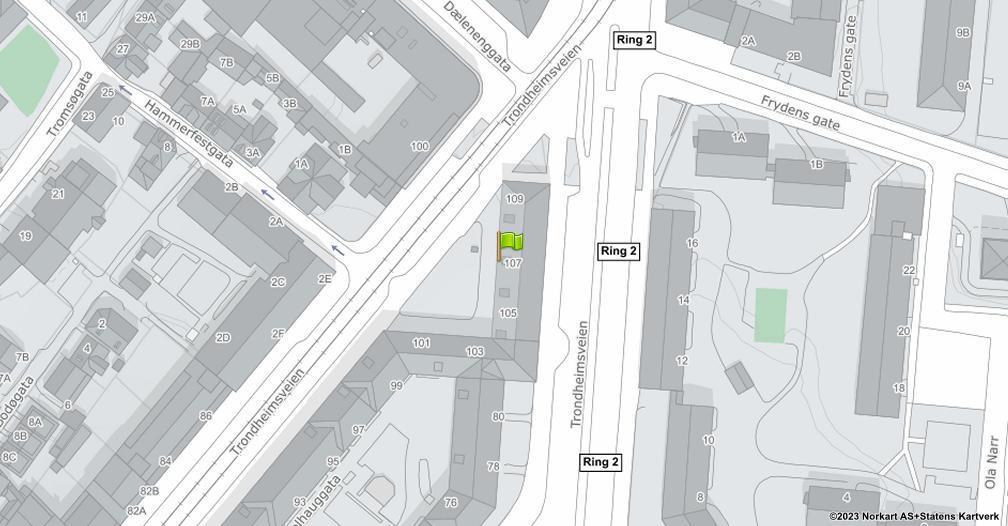 Kart sentrert på geolokasjonen 59.9247382894599 breddegrad, 10.7752097444248 lengdegrad