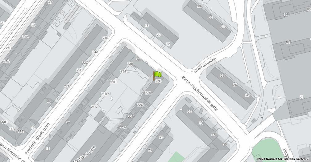 Kart sentrert på geolokasjonen 59.9423793006232 breddegrad, 10.7757769385404 lengdegrad