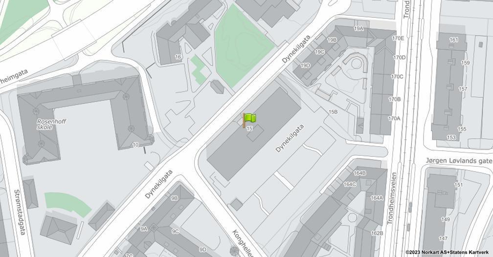 Kart sentrert på geolokasjonen 59.9309522816795 breddegrad, 10.7766334387242 lengdegrad
