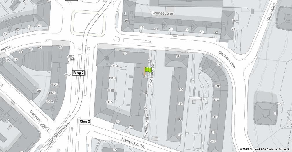 Kart sentrert på geolokasjonen 59.9256941723747 breddegrad, 10.7769248200131 lengdegrad