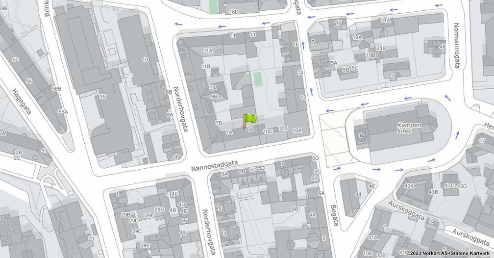 Kart sentrert på geolokasjonen 59.9119406127416 breddegrad, 10.7804641399161 lengdegrad