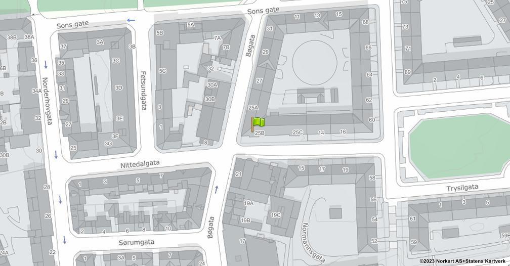 Kart sentrert på geolokasjonen 59.9139335966048 breddegrad, 10.781196907081 lengdegrad