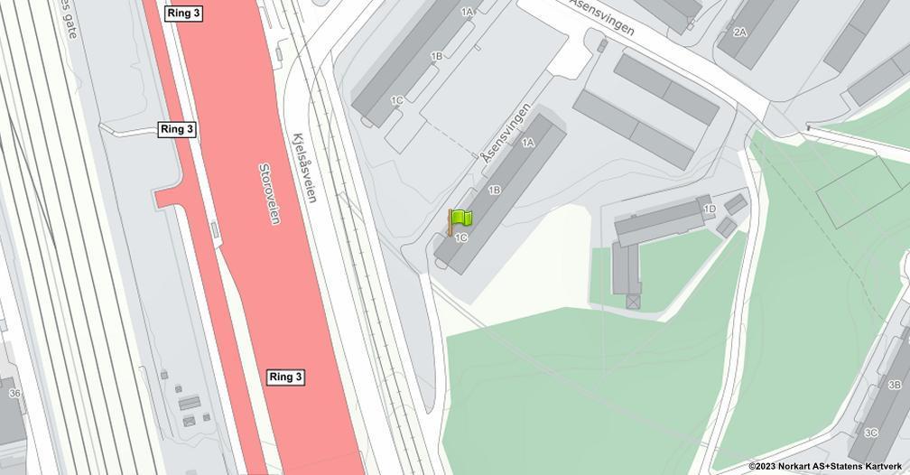Kart sentrert på geolokasjonen 59.9407773916138 breddegrad, 10.78267251624 lengdegrad
