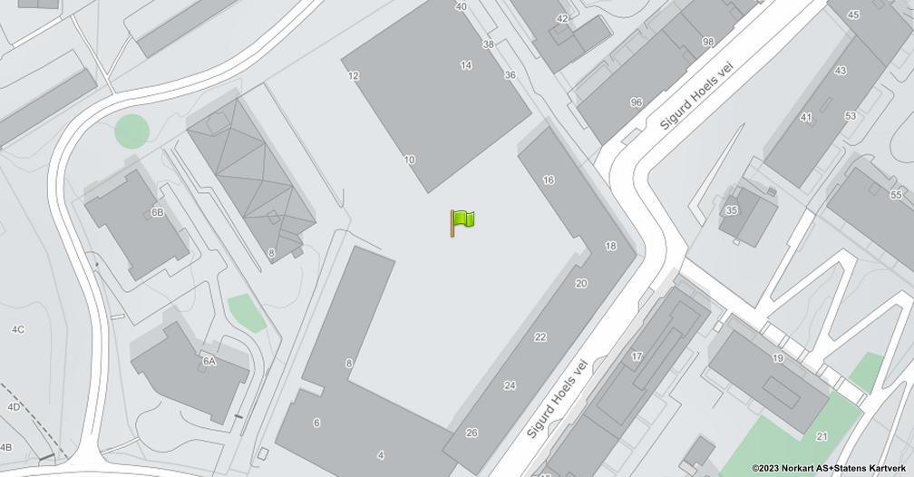 Kart sentrert på geolokasjonen 59.9172460394801 breddegrad, 10.7853097837802 lengdegrad