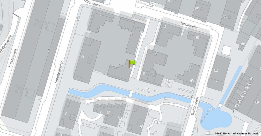Kart sentrert på geolokasjonen 59.9038711367041 breddegrad, 10.7873989504225 lengdegrad