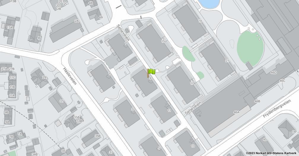 Kart sentrert på geolokasjonen 59.9281414836088 breddegrad, 10.7878993899793 lengdegrad