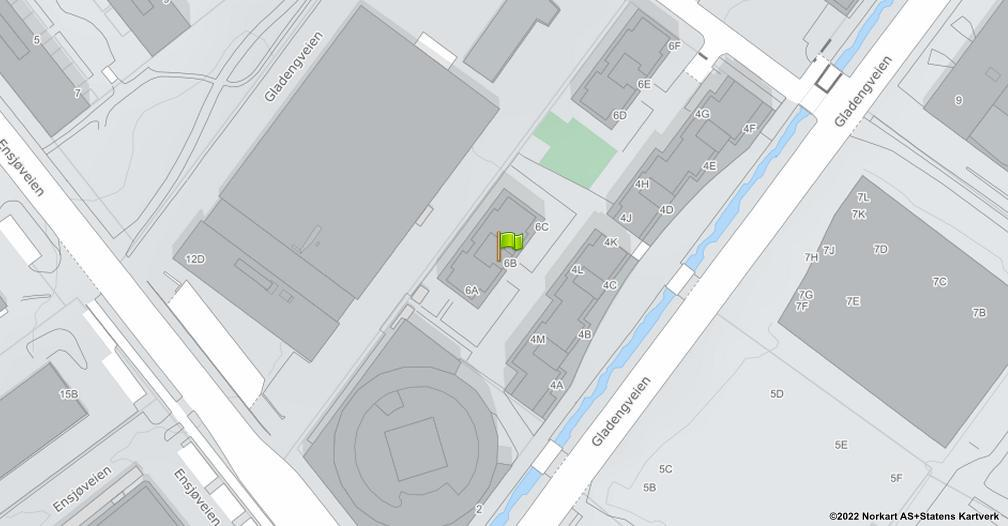 Kart sentrert på geolokasjonen 59.9155819295622 breddegrad, 10.7881467283065 lengdegrad