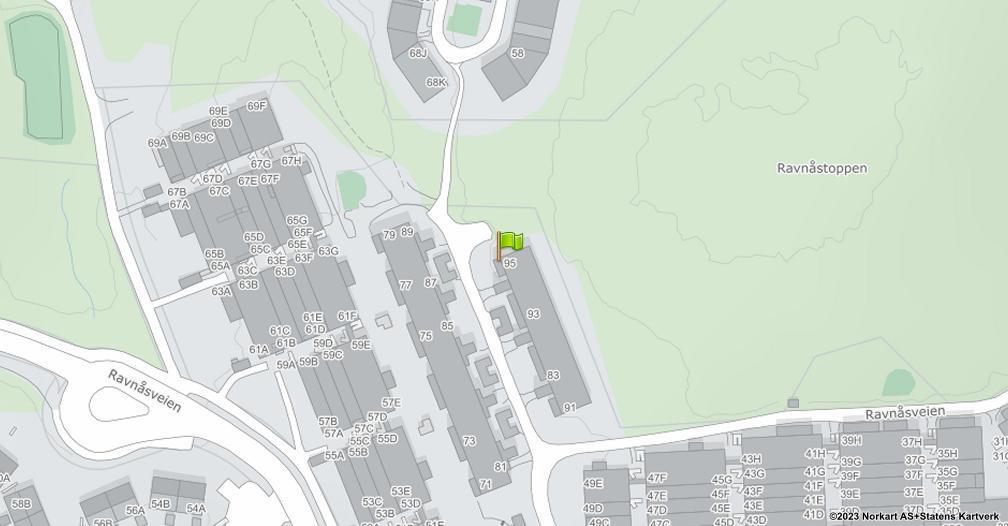 Kart sentrert på geolokasjonen 59.8383144160391 breddegrad, 10.7887195114547 lengdegrad