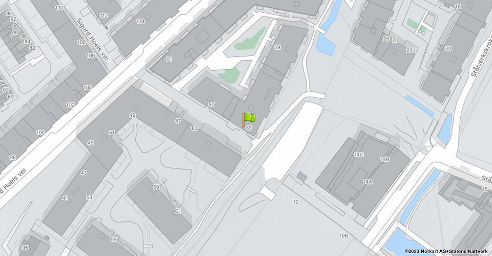 Kart sentrert på geolokasjonen 59.9179428905759 breddegrad, 10.7890948320634 lengdegrad