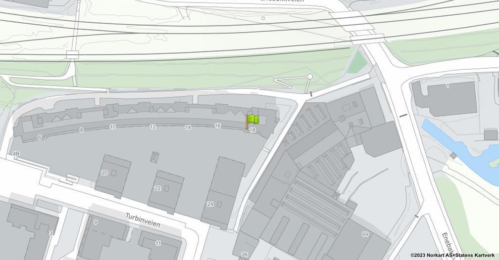 Kart sentrert på geolokasjonen 59.9047436659721 breddegrad, 10.7896184264354 lengdegrad