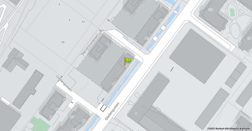Kart sentrert på geolokasjonen 59.9164752304975 breddegrad, 10.7902250302525 lengdegrad