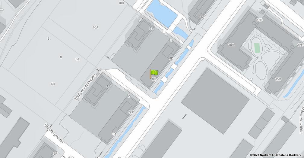 Kart sentrert på geolokasjonen 59.9167511469195 breddegrad, 10.7906083797634 lengdegrad