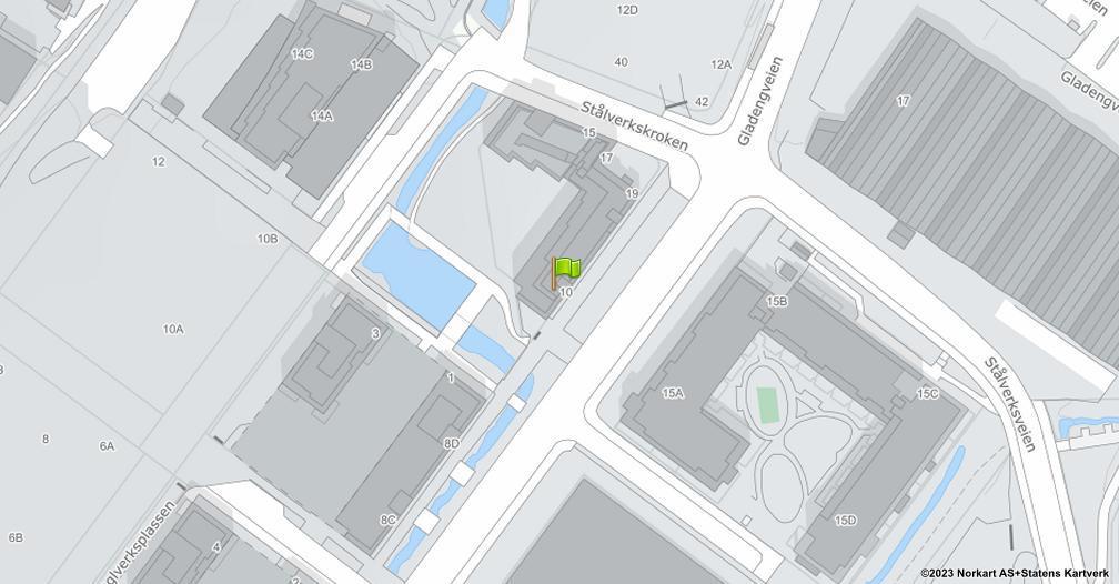 Kart sentrert på geolokasjonen 59.9172665177073 breddegrad, 10.7914142753174 lengdegrad