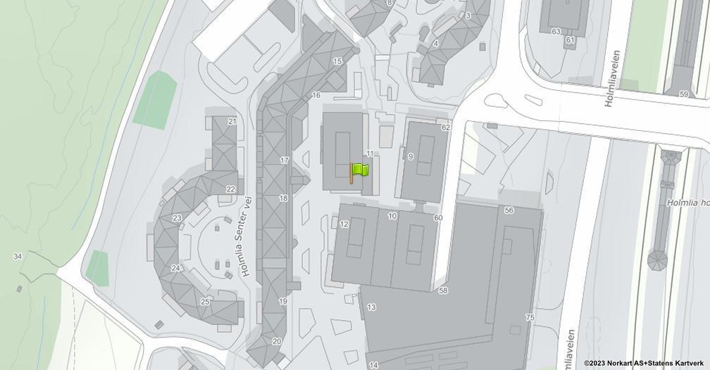 Kart sentrert på geolokasjonen 59.8347194644517 breddegrad, 10.79482550743 lengdegrad