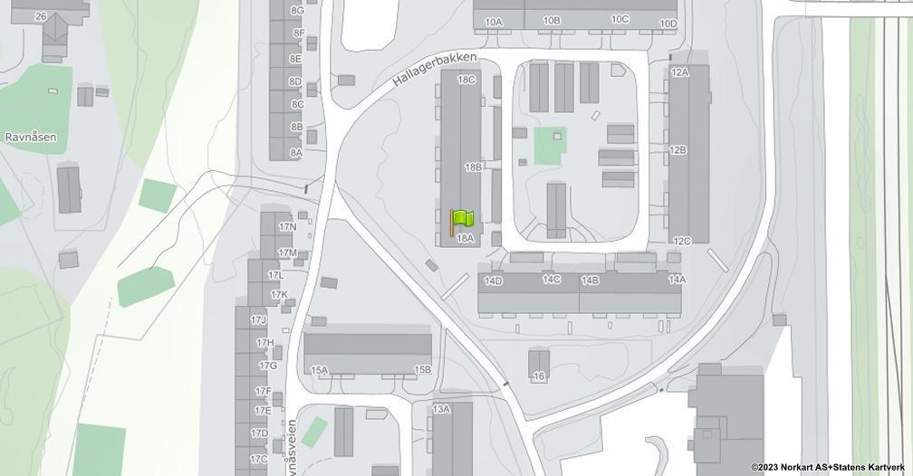 Kart sentrert på geolokasjonen 59.8392817223627 breddegrad, 10.7948569513762 lengdegrad