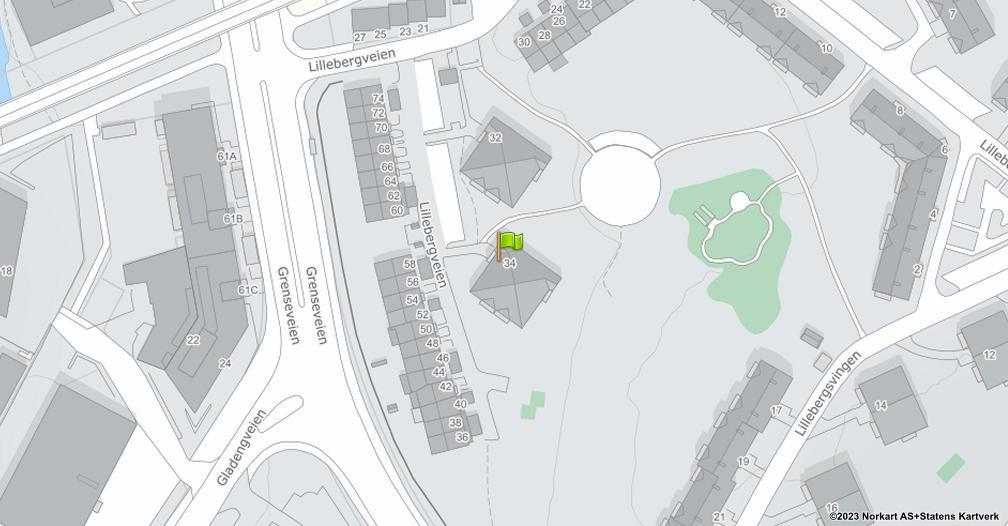 Kart sentrert på geolokasjonen 59.9196097675419 breddegrad, 10.7951148711409 lengdegrad