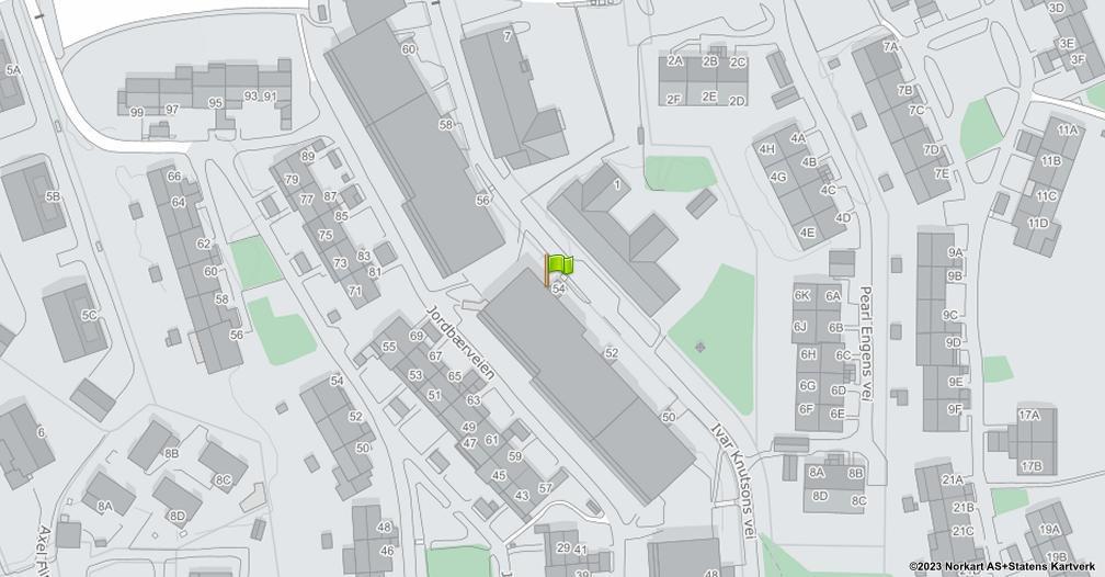 Kart sentrert på geolokasjonen 59.8701493853032 breddegrad, 10.7956809618337 lengdegrad